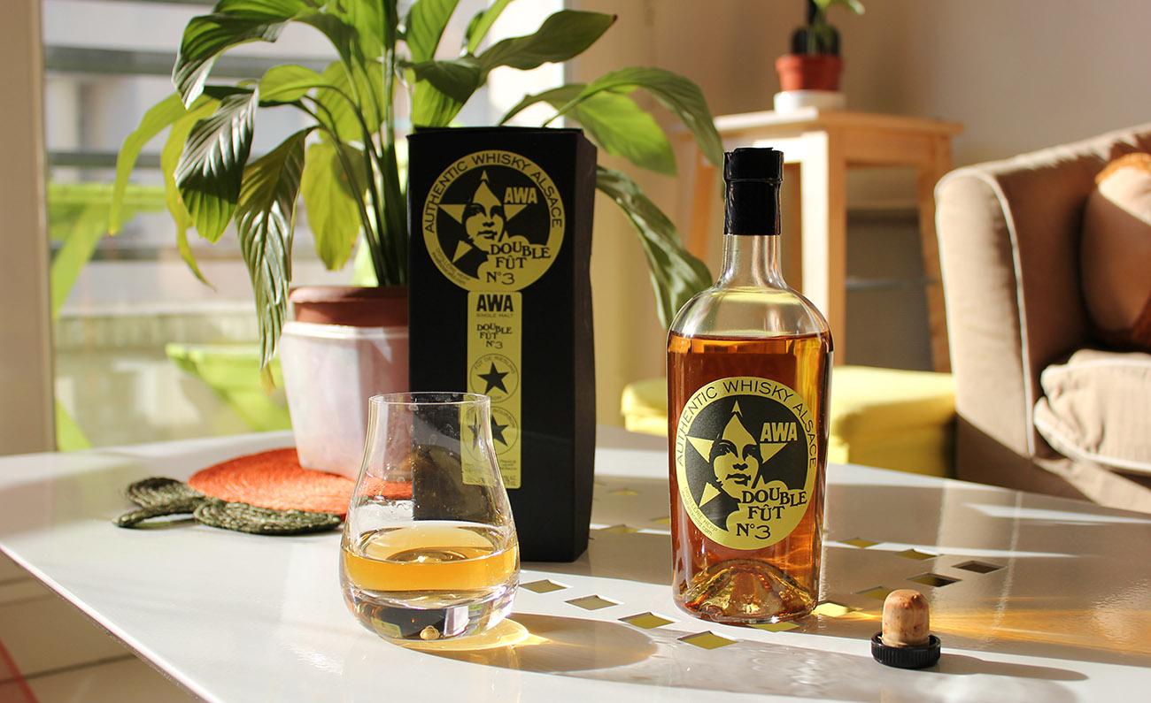 AWA Double Fût N°3, Bourbon, Riesling, Authentic Whisky Alsace, Dennis Hanns, whisky Français, French whisky, embouteilleur indépendant, malt.