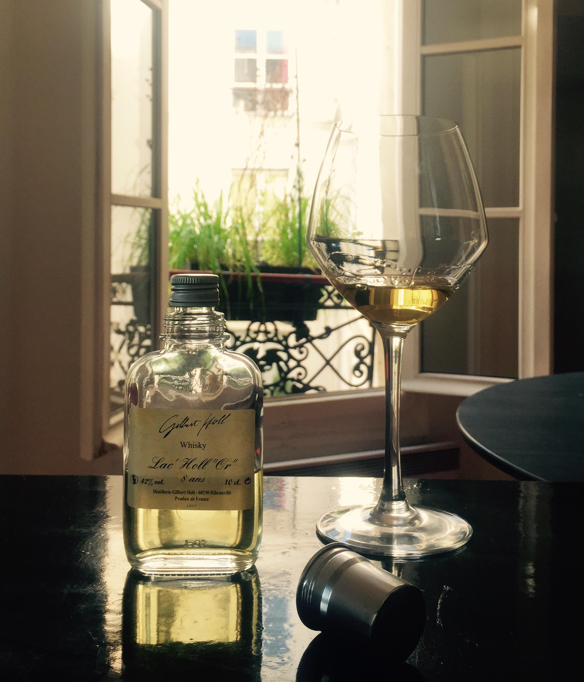 Lac'Holl Or 8 ans, Gilbert Holl, Ribeauvillé, Alsace, orge maltée, alambic à repasse, fûts de chêne Français, Whisky Français, Single Malt.