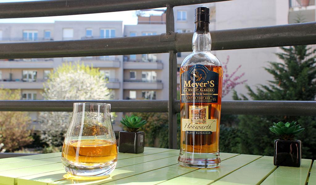 Meyer's Édition Limitée, fûts de Pinot Noir, Arnaud Meyer, Lionel Meyer, Saint Pierre Bois Hohwarth, Alsace, whisky Français, French whisky, orge maltée.