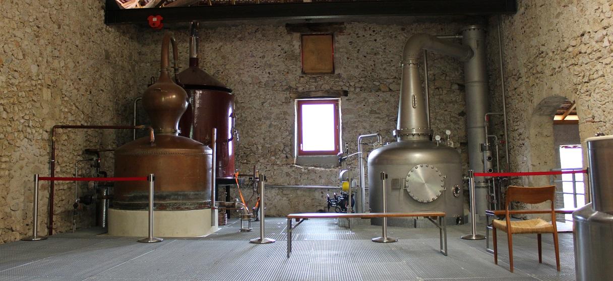 Les deux Alambics de la distillerie du Vercors
